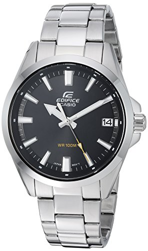 Casio Men's Edifice Quartz Watch with Stainless-Steel Strap, Silver, 19.7 (Model: EFV-100D-1AVCR) (Edifices Casio)