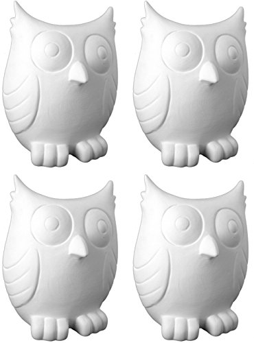 The Friendly Owl Bank - Set of 4 - Paint Your Own Ceramic Keepsake
