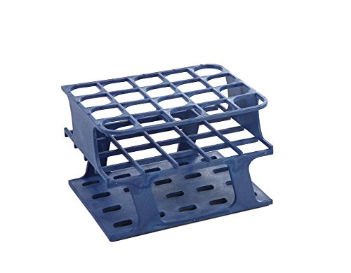 (Heathrow Scientific HS27503B OneRack Tube Rack, Half Size, Polyoxymethylene (POM), 20 mm, 20 Wells, Blue (Pack of)
