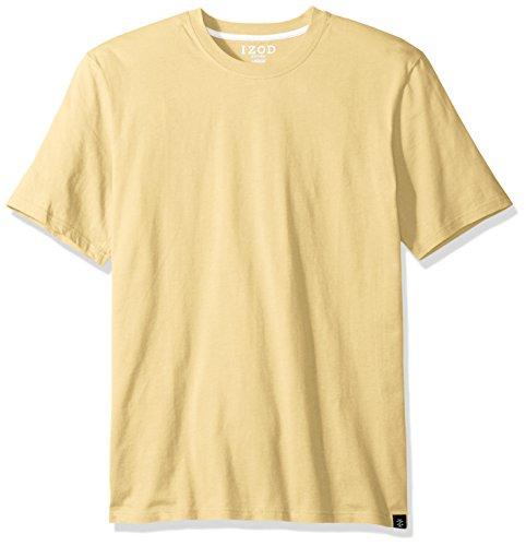 IZOD Men's Jersey Knit Sleep Shirt, Golden Haze, Small Izod Jersey Top
