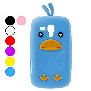 hao Protective Chicken Pattern Soft TPU Case for Samsung S7562 (Assorted Colors) , Black