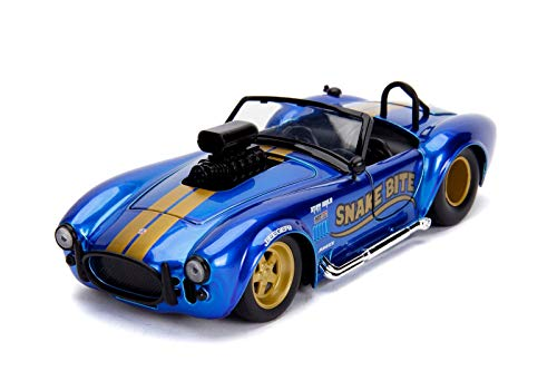 Jada 1965 Shelby Cobra 427 S/C Candy Blue with Gold Stripes Snake Bite Bigtime Muscle Series 1/24 Die-cast Model Car 30706 (Bigtime Muscle Cars)
