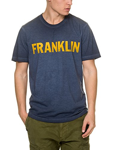 Franklin & Marshall Men's Men's Blue T-Shirt in Size M Blue by Franklin & Marshall