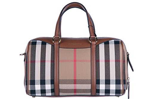 Burberry Women's Medium Alchester in House Check and Beige Tan