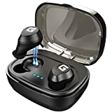 Wireless Earbuds,GAEKCE Latest Bluetooth 5.0 True Wireless Bluetooth Earbuds 48H Playtime 3D Stereo Strong Bass Sound and IPX7 Professional Waterproof with Portable Charging,Built-in Microphone