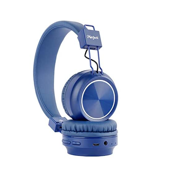 Macjack Wave 300 On Ear Bluetooth Headphones with Thumping Bass & 4D Sound, Inbuilt Mic & 15 Hours of Playback Time, TF