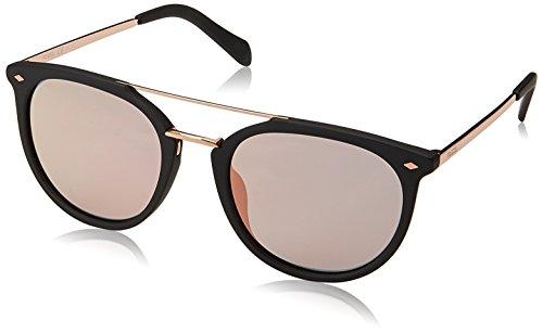Fossil Women's Fos 3077/s Aviator Sunglasses, Matte Black, 53 mm