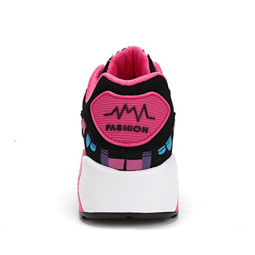 fushia Deporte de Piel Otra Mujer Welldone2018 de Zapatillas noir 8qx1HC