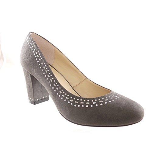 Lotus - Zapatos de vestir para mujer Gris gris