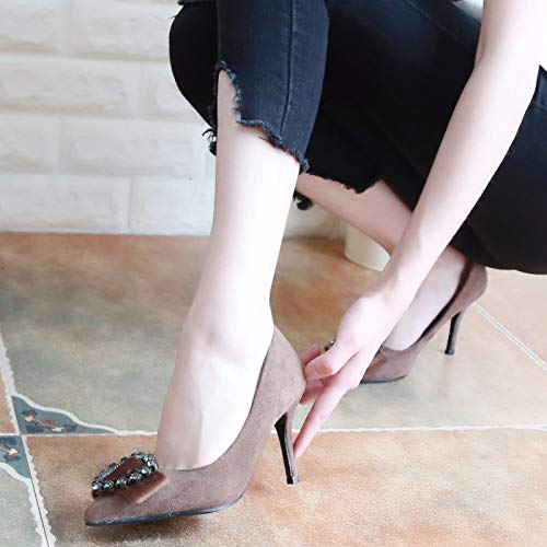Shoes Fine Single Black KPHY Diamond Pointed Autumn Shoes Slim High Eight And 8Cm Sharp Thirty Diamond Shallow Mouth Shoes Heeled Spliced R0R4a