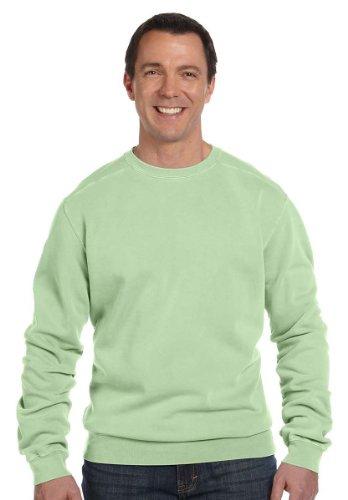 Authentic Pigment 11 oz. Pigment-Dyed Ringspun Cotton Fleece Crew - CELERY - 2XL