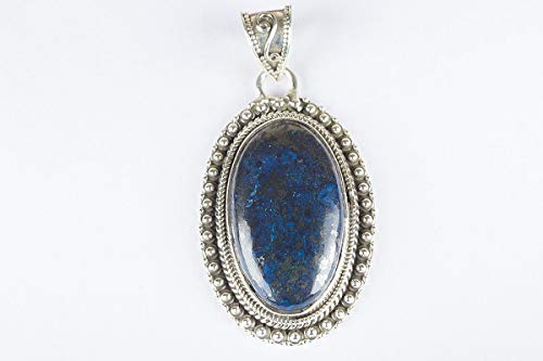 Azurite Malachite Pendant 925 Sterling Silver Marvellous Luxury Oval Shape Handmade Jewelry Calmness Fancy Special High Quality Healing and Crystal Healing Stone Pendant