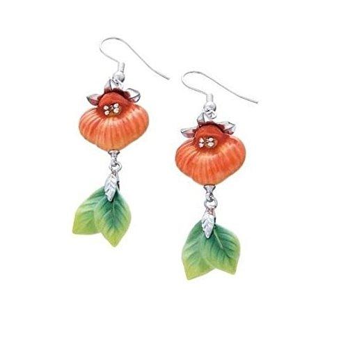 Franz Pocketbook Orchid Earrings * Porcelain Jewelry FJ00197 ()