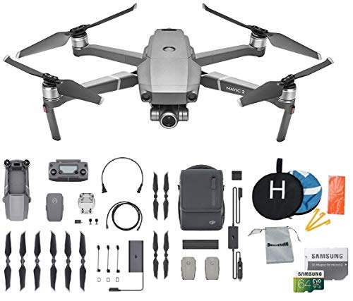DJI Mavic 2 Zoom Fly More Kit Combo Drone Collapsible Quadcopter Bundle, Choose Options Accessories