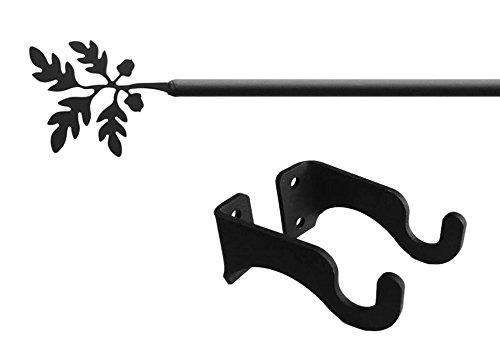 Acorn and Leaf Curtain Rod