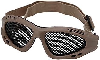 Negro Dabixx Gafas de protecci/ón Motocicleta t/áctica Airsoft Protecci/ón para los Ojos Gafas antivaho Malla Gafas met/álicas