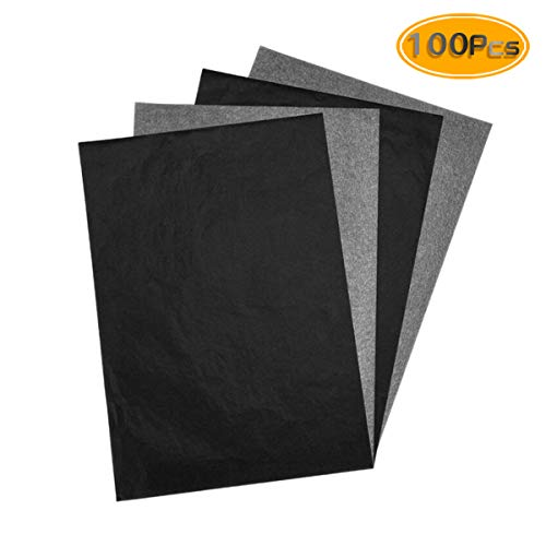 Newbested 200PCS Carbon Transfer Paper For Wood, Paper, Canvas and Other Art Surfaces(8.5 x 11 Inch), Black. from Newbested
