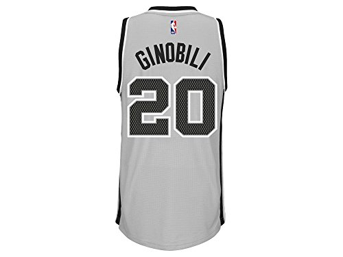 20 Swingman Alternate Jersey (San Antonio Spurs Adidas NBA Manu Ginobili #20 Alternate Swingman Jersey (Gray.) 2XL)