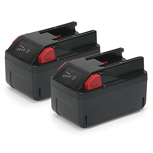 PowerGiant Upgraded 28V 3.0Ah Lithium Ion Battery Pack for Milwaukee 48-11-2830 M28 V28 Tools, with LED Gauge (2-Pack)