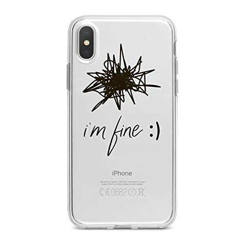 Lex Altern TPU Case for iPhone Apple Xs Max Xr 10 X 8+ 7 6s 6 SE 5s 5 Art Pattern Black Hand Soft Slim fit Abstract Clear Lightweight Cover Funny Drawn Smooth Print Quote Design Flexible Gift Crazy -