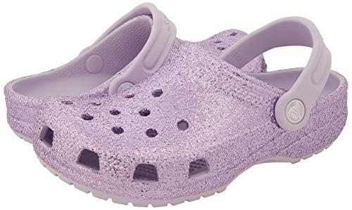 Crocs Kids' Classic Clog | Glitter Girls | Slip on Shoes