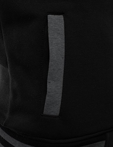 J.TOMSON Mens Raglan Varsity Baseball Jacket with Pockets