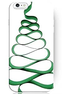 """ZLXUSA(TM) New Personalized Hard Green Ribbon Christmas Tree for Apple 6 Plus (5.5"""") iPhone Case Holiday Gift"""