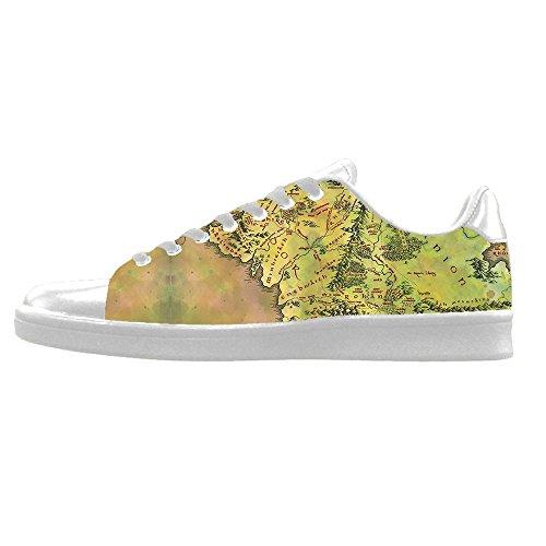 Custom Mappa del mondo Mens Canvas shoes I lacci delle scarpe in Alto sopra le scarpe da ginnastica di scarpe scarpe di Tela. Barato 100% Garantizada xbr6alZv