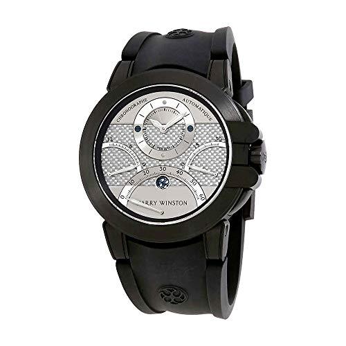 Harry Winston Ocean Triple Retrograde Chronograph Automatic Silver Dial Mens Watch OCEACT44ZZ006