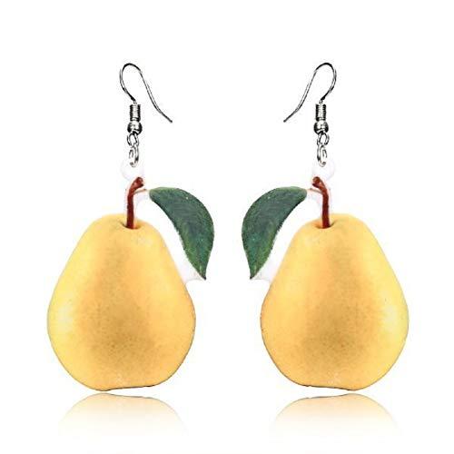 - YOXO Style Pear Cute Fruit Dangle Earrings for Women
