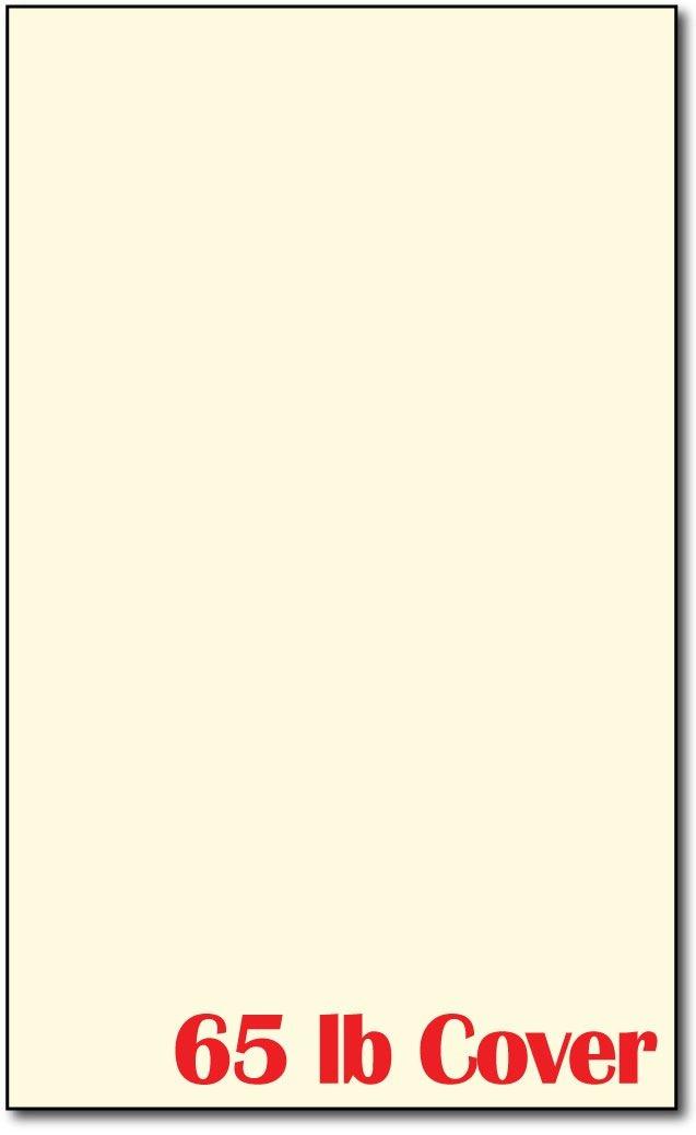Cardstock, 8 1/2 X 14 29kg Cream - 250 Sheets B000UCHTK2