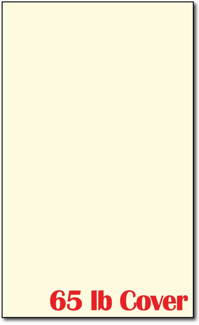 250 Sheets Legal Size (8 1/2 X 14 Inches) - 65lb Cover - Cream Colored Cardstock - Perfect for Documents, Programs, Menus, and More!