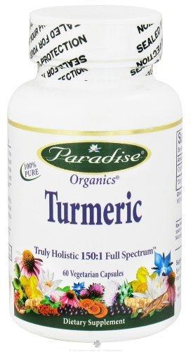 414PohUnyrL - Paradise Herbs - Turmeric Truly Holistic 150:1 Full Spectrum - 60 Vegetarian Capsules