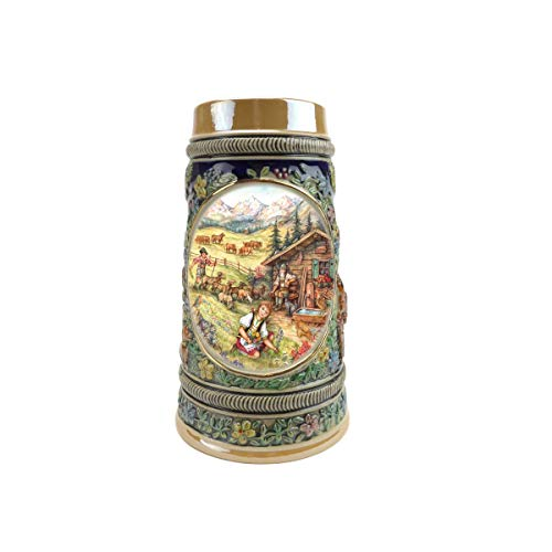 """""""Spring In Germany"""" Essence of Europe Gifts E.H.G. Collectible Ceramic Beer Stein (#1 in Collection of Four Steins)"""