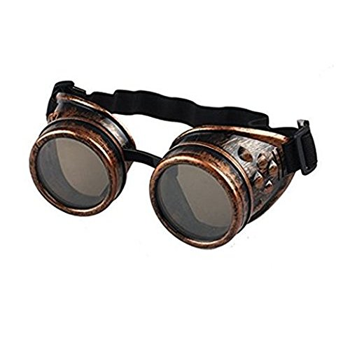 Cosplay Glasses for Halloween Party Baomabao Vintage Style Steampunk Goggles Welding Punk (Vintage Halloween Party)