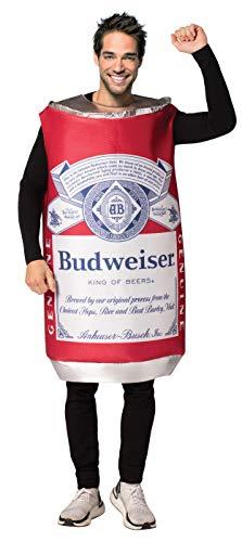 Juggernaut Costumes Halloween (Budweiser Vintage Beer Can Costume Unisex Design fits Men Women 21+ of)