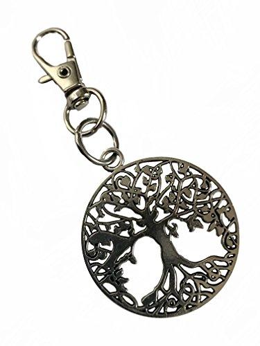 Keychain Metal Charm (Detailed Tree of Life Metal Keychain with Swivel Clasp)