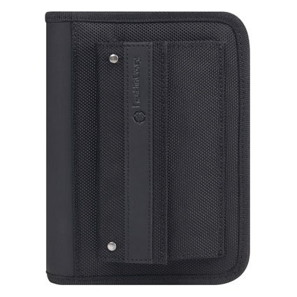 Pocket Friday Nylon Zipper Binder - Black (Franklin Covey Black Pocket)