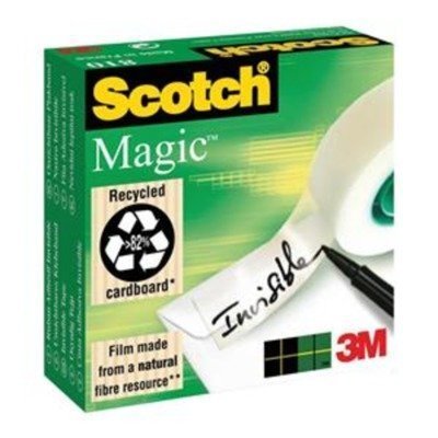 Magic Tape w/Refillable Dispenser, 3/4'' x 650'', Clear, Sold as 1 Roll