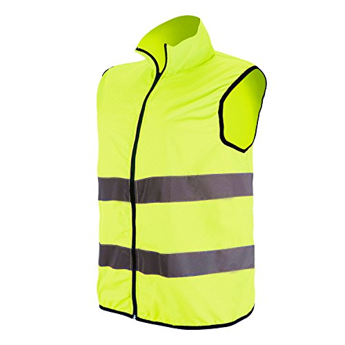 Windproof Vest Waterproof - Reflective Vest with High Visibility, Windproof Waterproof Safety Vest with Reflective Strips for Running,Jogging,Biking