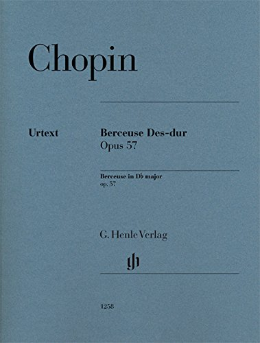 - Berceuse, op. 57 - Revised Urtext Edition - piano solo - sheet music - (HN 1258) (English, German and French Edition)