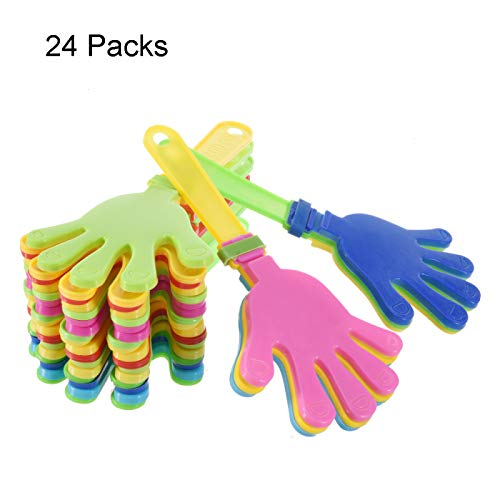 (Noise Makers, 24 Piece Plastic Hand Clappers Children's Toy Noisemakers Random)