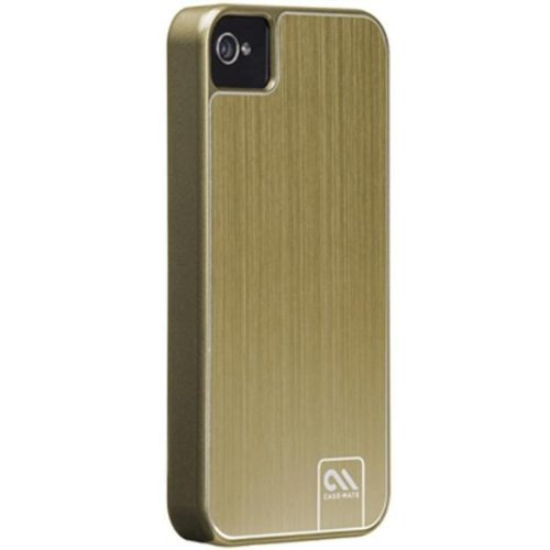 Case-Mate BT-COV-CM018401 BarelyThere Case für Apple iPhone 4/4S Alu gold