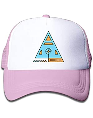 Sacred Geometry On Boys and Girls Trucker Hat, Youth Toddler Mesh Hats Baseball Cap