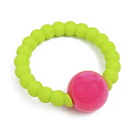 CHB-2700-CHT 100/% Safe Silicone Chartreuse CB GO by Chewbeads Mercer Rattle