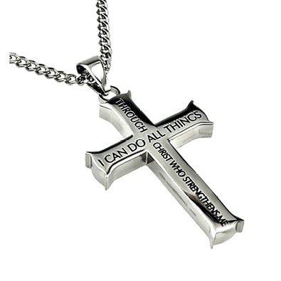 Mens Cross Necklace -