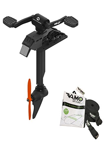 Wilderness Systems Helix PD Pedal Drive System for Wilderness Radar 115 and Radar 135 Fishing Kayaks, Includes Set of Vamo Kayak Tie Down Straps