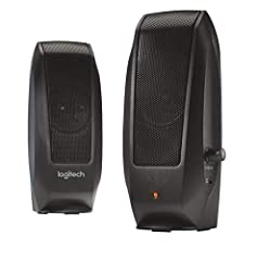 Enjoy rich, full sound, edgy design, and convenient controls. The Logitech S-120 speaker system is the perfect audio companion to your PC or notebook.What's in the box: Logitech S-120 Speaker System, All Necessary Cables and 3-Year Limited Wa...