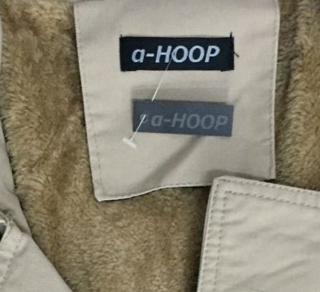 (アルファーフープ) α-HOOP メンズ 長袖 裏 ボア アウター フード 無し コート ジャケット M ~ XXL COT-3