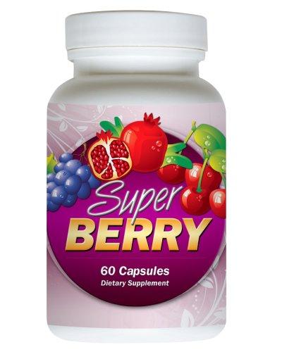Amazon Complexe super fruit Extreme SuperBerry! Mélange de PUISSANCE HIGH. 60 capsules. Antioxydant incluent: Acai Berry, Myrtille, Goji Berry, mangoustan, Hawaiian Noni, Black Cherry, le resvératrol, et plus encore. Jus exotique pour Bien-être et soutien